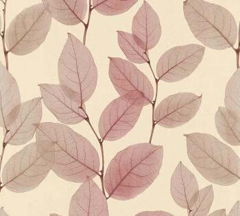 Vliestapete AS Creation X-Ray 34247-3, 342473 wein-rot Blätter-Ranken
