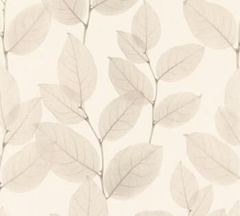 34247-1, 342471 Vliestapete X-Ray AS Creation beige Blätter-Ranken