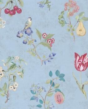 Eijffinger PIP Studio 55-375024, Vliestapete hellblau Blumen