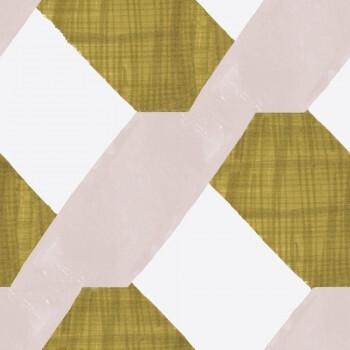 Grün Rosa Wandbild Muster Vlies 62-SPID230623 Tenue de Ville SPICE
