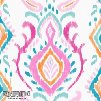 Rasch Textil Cabana 23-148645 pink Verzierung Vliestapete