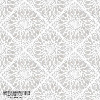 Rasch Textil Cabana 23-148609 Blüten sand-grau Vliestapete