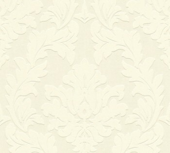 Velourtapete AS Creation Castello 33580-1, 335801 creme große Ornamente