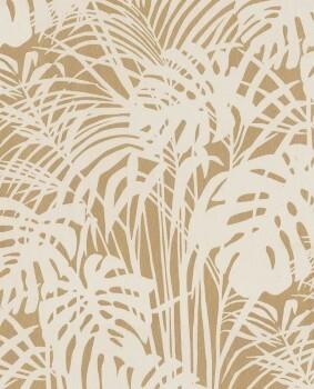55-378012 Eijffinger Reflect grau gold glänzend Blätter Vliestapete