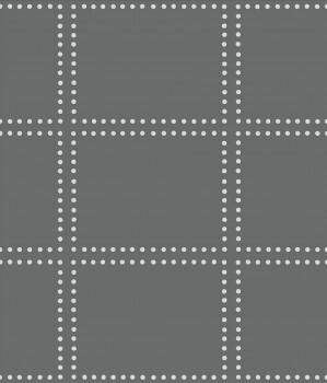Gravity Rasch Textil 23-022639 Tapete kariert Punkte zementgrau