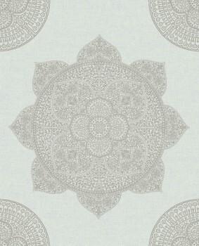 Eijffinger Lounge 55-388782 Vliestapete Mandala mint silber
