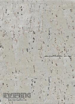 Rasch Textil Vista 5 23-213736 creme-grau Kork-Tapete glänzend
