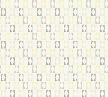 35118-4, 351184 Vliestapete Björn AS Creation grau-gelb Rauten