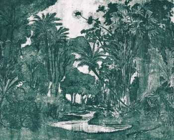 Dschungel-Wandbild Grün Natur Tenue de Ville ODE 62-ODED191418