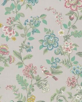 Eijffinger PIP Studio 55-375060, Vliestapete taupe Blumen