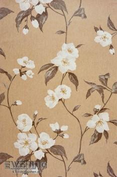 36-INF24831127 Casadeco Infinity Vliestapete beige Blumen-Motiv