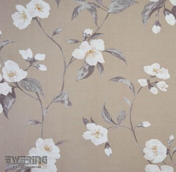 Casadeco Infinity 36-INF24881107 Blumenranken creme-beige Deko-Stoff