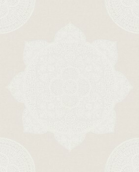 Eijffinger Lounge 55-388786 Vliestapete creme perlmut Mandalaoptik