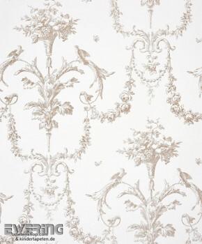 36-CHT22941332 Casadeco - Chantilly Ornamente beige Vliestapete