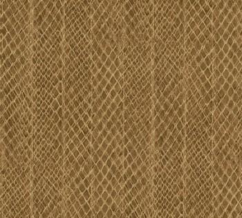 33987-2, 339872 Vliestapete Saffiano AS Creation Schlangenhaut Optik braun