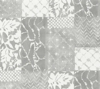 Tapete Vlies hellgraues Patchwork-Muster 29-88507_L Limonta Luna