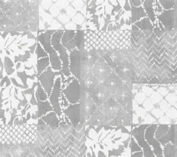 Tapete Vlies hellgraues Patchwork-Muster 29-88507_L Limonta Luna