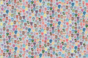 Gesichter Wandbild Bunt 62-SAUD211504 Tenue de Ville SAUDADE