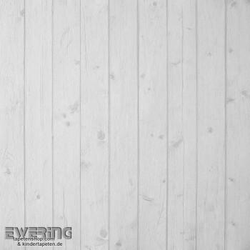 36-MTE65651018 Caselio - Metaphore Tapeten hell-grau Holzlatten