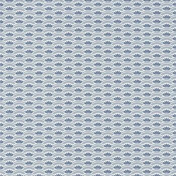 Mustertapete Blau