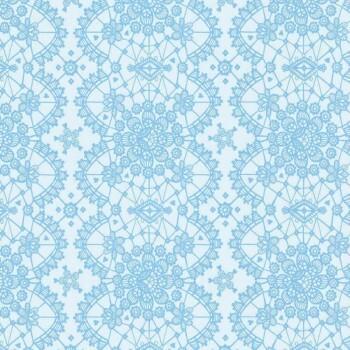 Verzierung Vliestapete Himmel-Blau