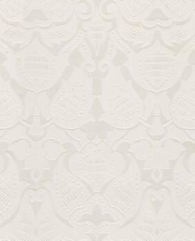 Eijffinger Lounge 55-388770 creme weiß Flock Ornamente Vliestapete
