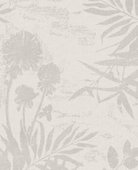 Eijffinger Lino 55-379030 Vliestapete Sandgrau Blumenmuster