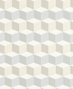 Geometrisch Vliestapete Muster Grau Beige