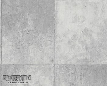 AS Creation Authentic Walls 8-30179-1, 301791 Vliestapete Beton grau