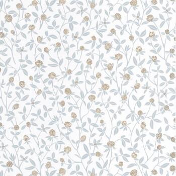 Caselio - Hygge 36-HYG100567321 Vliestapete Blumen hellblau gold