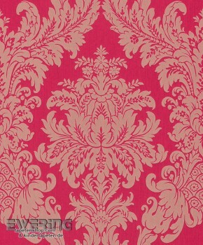 Rasch Textil Cassata 23-077239 Magenta Textiltapete Ornament
