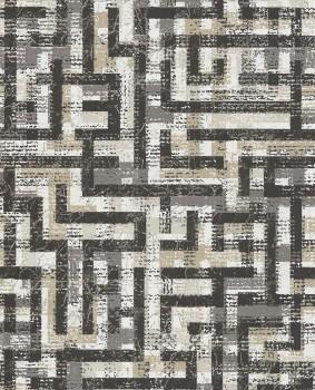 Eijffinger Siroc 55-376011 Vliestapete schwarz beige Muster Glanz