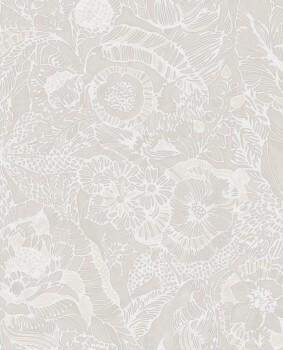 55-386510 Eijffinger Enso Blumen Vliestapete beige Perlmutt