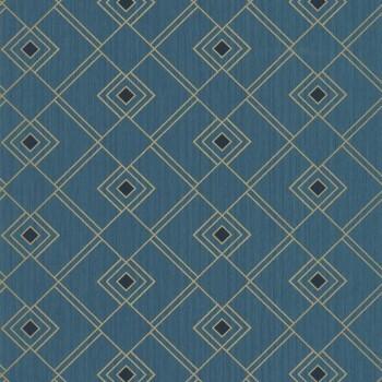 Texdecor Caselio - Scarlett 36-SRL100476050 grafisch Vliestapete blau gold
