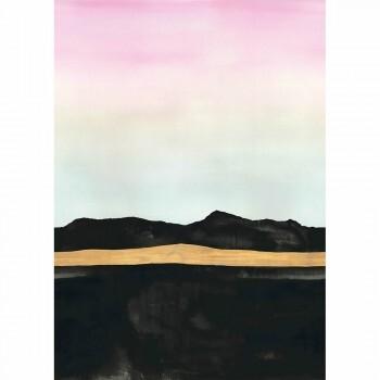 Wandbild Landschaft Sonnenuntergang
