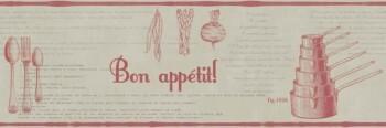 Borte Caselio - Bon Appetit 36-BAP68478099 rot grau Vlies Küche