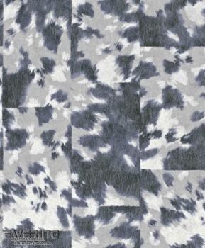 Rasch Pop Skin 7-498240 Kuhflecken Vliestapete grau-blau