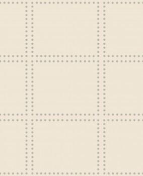 23-022645 Gravity Rasch Textil Vliestapete beige kariert Punkte