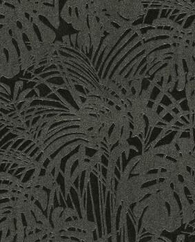 Eijffinger Reflect 55-378016 Tapete Vlies schwarz Blätter Glasperlen