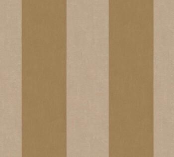 Velourtapete AS Creation Castello 33581-2, 335812 Streifen gold