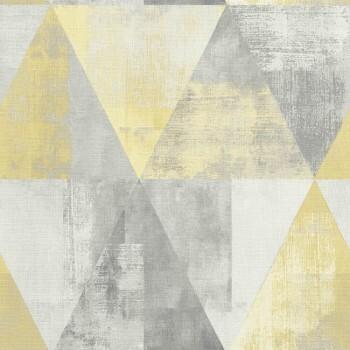 Rasch 7-410921 Hyde Park grau-gelb Mustertapete Wohnzimmer