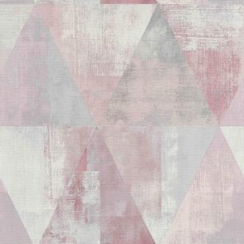 7-410938 Hyde Park Rasch Mustertapete Dreieck rosa grau matt