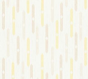 35119-3, 351193 Vlies Tapete Björn AS Creation beige-gelb Rauten