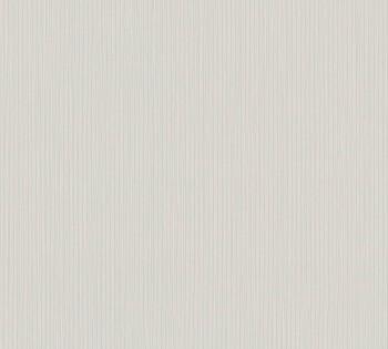 8-34457-4 Vliestapete Happy Spring AS Creation Uni hell-grau Streifen