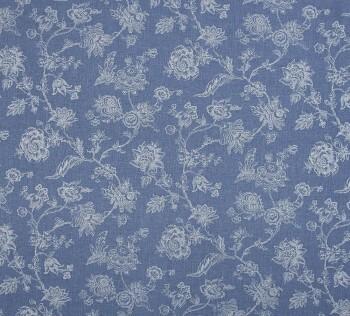Casadeco - Chantilly 36-CHT22886522 blau Blumenranken Dekostoff