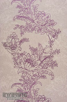 Casadeco Infinity 36-INF24855103 Vlies Blumenranken dunkel-grau