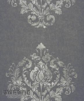 36-MAJ26419906 Casadeco - Majestic Texdecor Ornament anthrazit