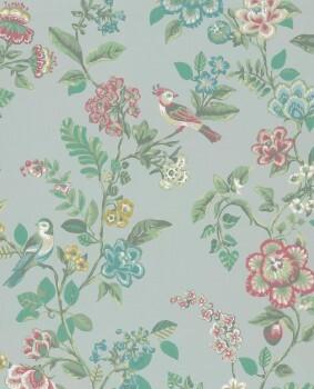 Eijffinger PIP Studio 55-375061, Vliestapete hellblau Blumen
