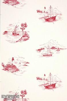36-MRN25078104 Casadeco - Marina Texdecor creme-weiß Boote Vlies