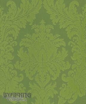 23-077215 Cassata Rasch Textil Textiltapete Gras-Grün Ornament